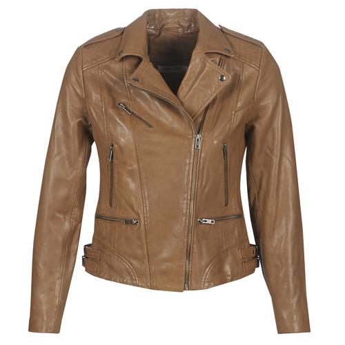 Vêtements Femme Vestes en cuir / synthétiques Naf Naf CHAO Cognac