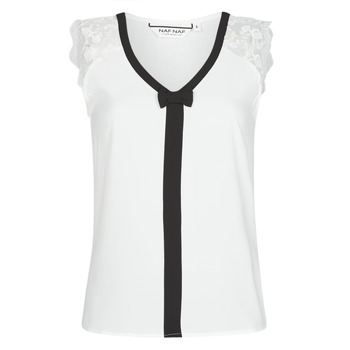 Vêtements Femme Tops / Blouses Naf Naf CORAZON Blanc