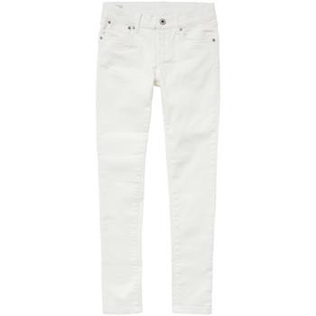 Vêtements Fille Jeans slim Pepe jeans PIXLETTE Blanc