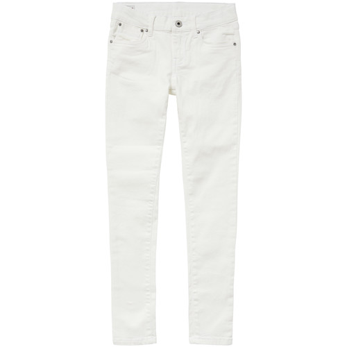 Vêtements Fille Jeans skinny Pepe jeans PIXLETTE Blanc