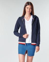 Vêtements Femme Sweats Tommy Hilfiger HERITAGE ZIP THROUGH HOODIE Marine