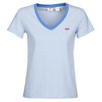 Vêtements Femme T-shirts manches courtes Levi's PERFECT VNECK Blanc / Bleu