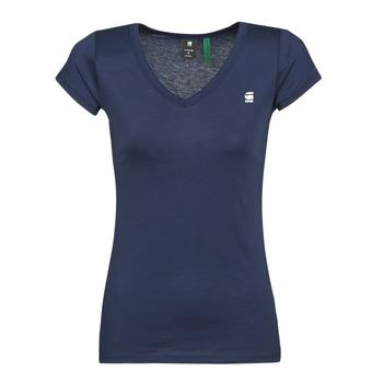 Vêtements Femme T-shirts manches courtes G-Star Raw EYBEN SLIM V T WMN SS Bleu