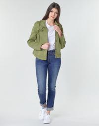 Vêtements Femme Jeans droit G-Star Raw MIDGE MID STRAIGHT WMN Kaki