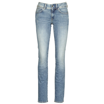 Vêtements Femme Jeans droit G-Star Raw MIDGE MID STRAIGHT WMN Bleu