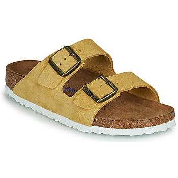 Chaussures Femme Mules Birkenstock ARIZONA SFB LEATHER Moutarde
