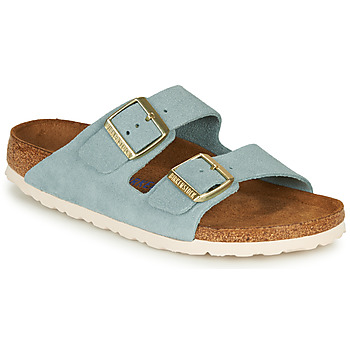Chaussures Femme Mules Birkenstock ARIZONA SFB LEATHER Bleu