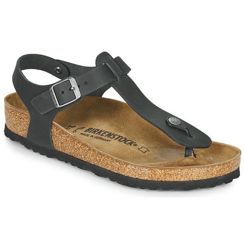 Chaussures Femme Tongs Birkenstock KAIRO LEATHER Noir