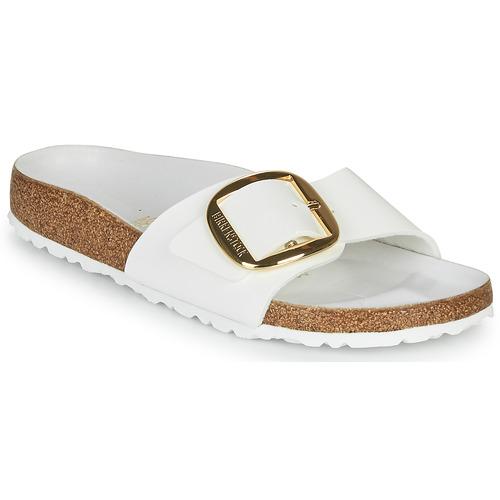 Chaussures Femme Mules Birkenstock MADRID BIG BUCKLE Blanc / Vernis