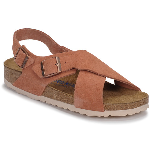 Chaussures Femme Sandales et Nu-pieds Birkenstock TULUM SFB LEATHER Earth Red (Terre Rouge)