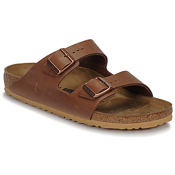 Chaussures Homme Mules Birkenstock ARIZONA LEATHER Antique Pull Espresso