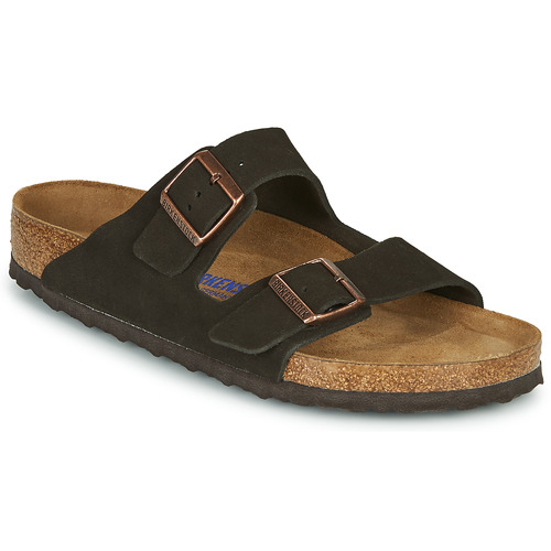 Chaussures Homme Mules Birkenstock ARIZONA SFB LEATHER Marron