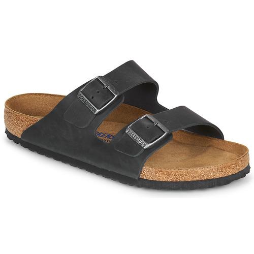 Chaussures Homme Mules Birkenstock ARIZONA SFB LEATHER Noir