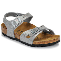 Chaussures Fille Sandales et Nu-pieds Birkenstock RIO Glitter Silver