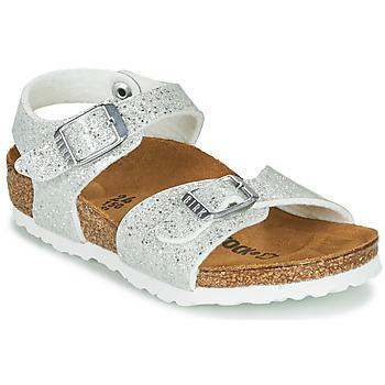 Chaussures Fille Sandales et Nu-pieds Birkenstock RIO PLAIN Blanc