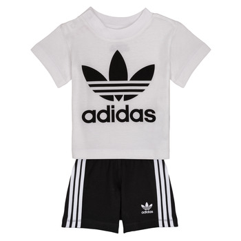Vêtements Enfant Ensembles enfant adidas Originals CAROLINE Blanc / Noir