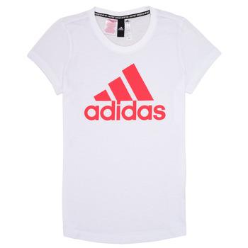 Vêtements Fille T-shirts manches courtes adidas Performance ELIOTE Blanc