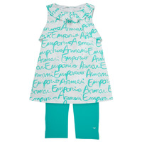 Vêtements Fille Ensembles enfant Emporio Armani Adel Blanc / Bleu