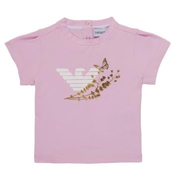 Vêtements Fille T-shirts manches courtes Emporio Armani Adrian Rose