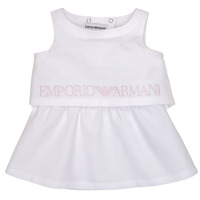 Vêtements Fille Robes courtes Emporio Armani Alberic Blanc