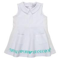 Vêtements Fille Robes courtes Emporio Armani Apollinaire Blanc