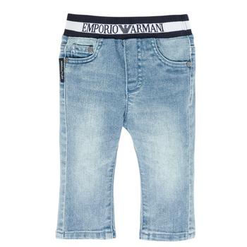 Vêtements Garçon Jeans droit Emporio Armani Ange Bleu
