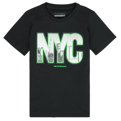 Vêtements Garçon T-shirts manches courtes Emporio Armani Ambroise Noir