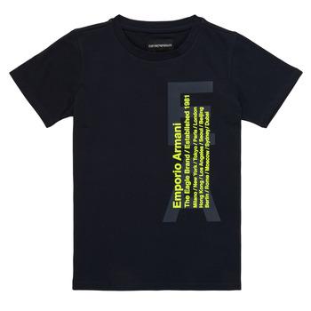 Vêtements Garçon T-shirts manches courtes Emporio Armani Andoni Marine