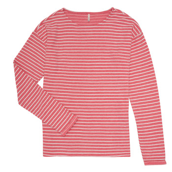 Vêtements Fille T-shirts manches longues Only KONNELLY Blanc / Rouge