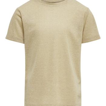 Vêtements Fille T-shirts manches courtes Only KONSILVERY Doré