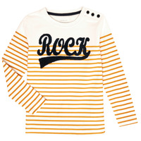 Vêtements Fille T-shirts manches longues Name it NKFTOSSA Blanc / Jaune