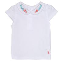 Vêtements Fille T-shirts manches courtes Carrément Beau MAYVE Blanc