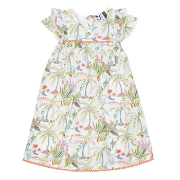 Vêtements Fille Robes courtes 3 Pommes SANDRINE Blanc