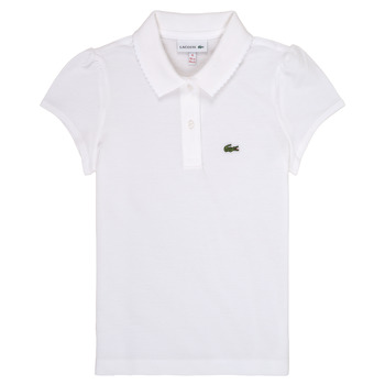 Vêtements Fille Polos manches courtes Lacoste CAYDEN Blanc