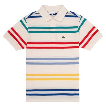 Vêtements Garçon Polos manches courtes Lacoste HENRI Multicolore