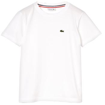 Vêtements Garçon T-shirts manches courtes Lacoste NAE Blanc