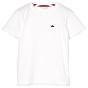 Vêtements Garçon T-shirts manches courtes Lacoste APAULINE Blanc