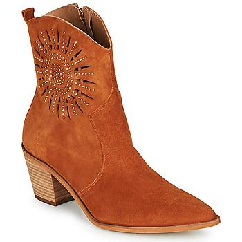 Chaussures Femme Bottines Fericelli MEYLIA Cognac