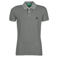 Vêtements Homme Polos manches courtes Benetton  Gris