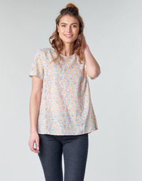 Vêtements Femme Tops / Blouses Benetton  Blanc / Multicolore