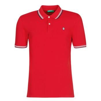 Vêtements Homme Polos manches courtes Benetton GUERY Rouge