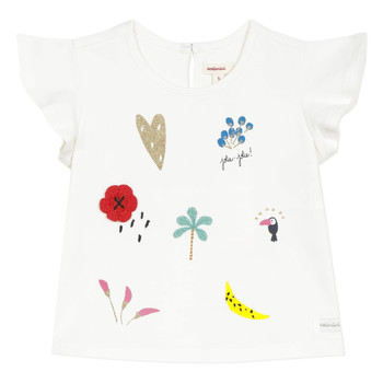 Vêtements Fille T-shirts manches courtes Catimini NADEGE Blanc