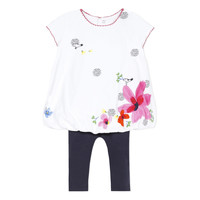 Vêtements Fille Ensembles enfant Catimini HENRI Blanc