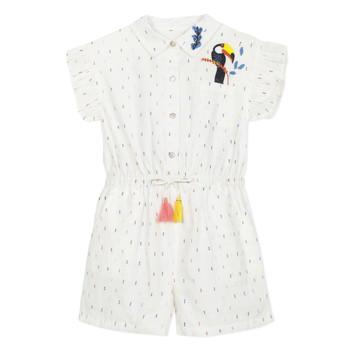 Vêtements Fille Combinaisons / Salopettes Catimini LUCIUS Blanc