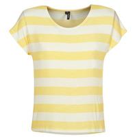 Vêtements Femme T-shirts manches courtes Vero Moda  Jaune / Blanc