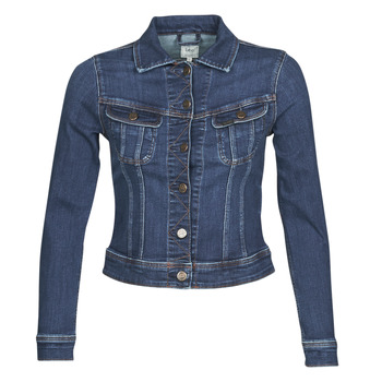 Vêtements Femme Vestes en jean Lee SLIM RIDER JACKET Bleu marine