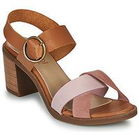 Chaussures Femme Sandales et Nu-pieds Casual Attitude MEL Camel / Rose