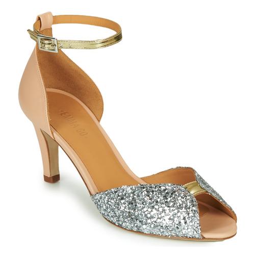 Chaussures Femme Sandales et Nu-pieds Emma Go JOLENE GLITTER Rose / Argenté / Doré