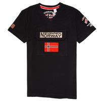 Vêtements Garçon T-shirts manches courtes Geographical Norway JIRI Noir