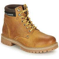 Chaussures Garçon Boots Jack & Jones JR STATTON LEATHER Miel